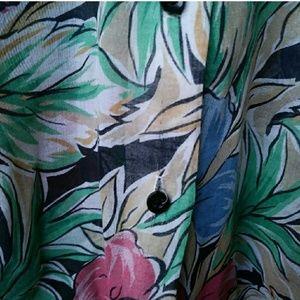 Vintage Tops - Vintage Floral Blouse Medium